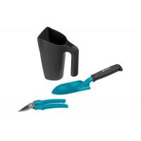 Комплект инструментов для балкона (секатор, лопатка, многофункциональный кувшин с заостренным краем)
